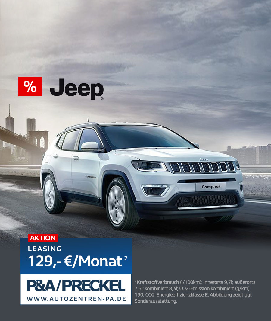 Jeep Leasing Compass Aktionsangebot