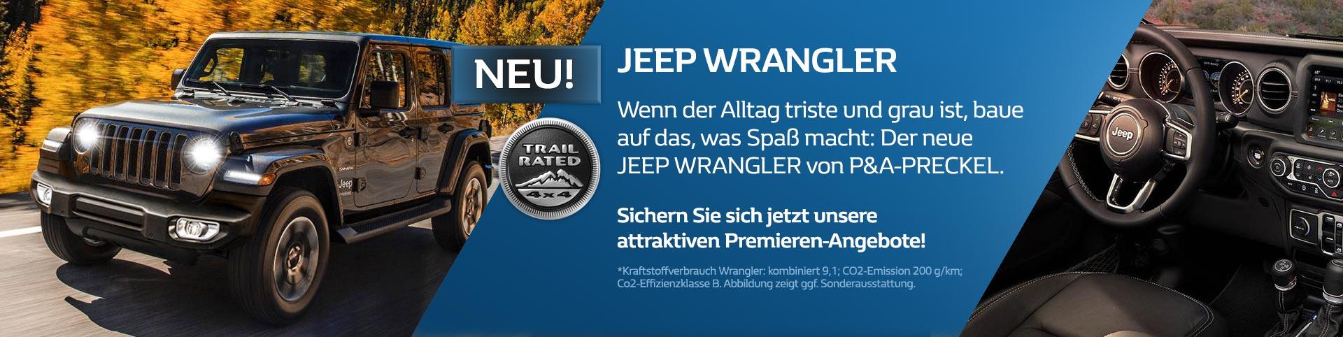 Neuer Jeep Wrangler vom Autozentrum P&A-Preckel