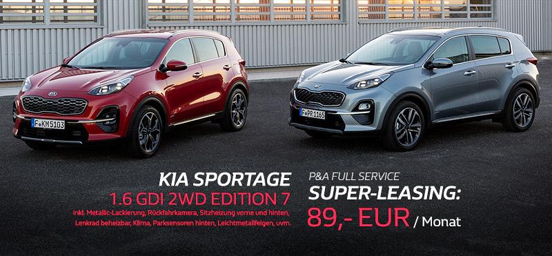KIA Sportage Leasing Angebot von P&A