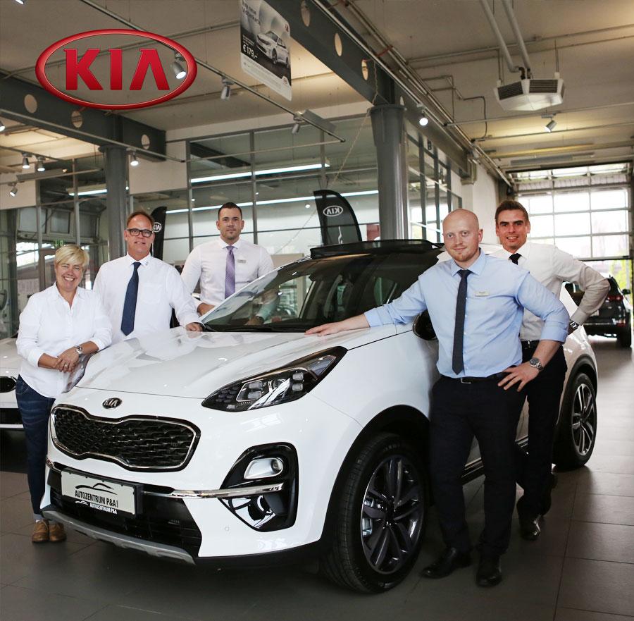 Team KIA vom Autozentrum P&A in Düsseldorf