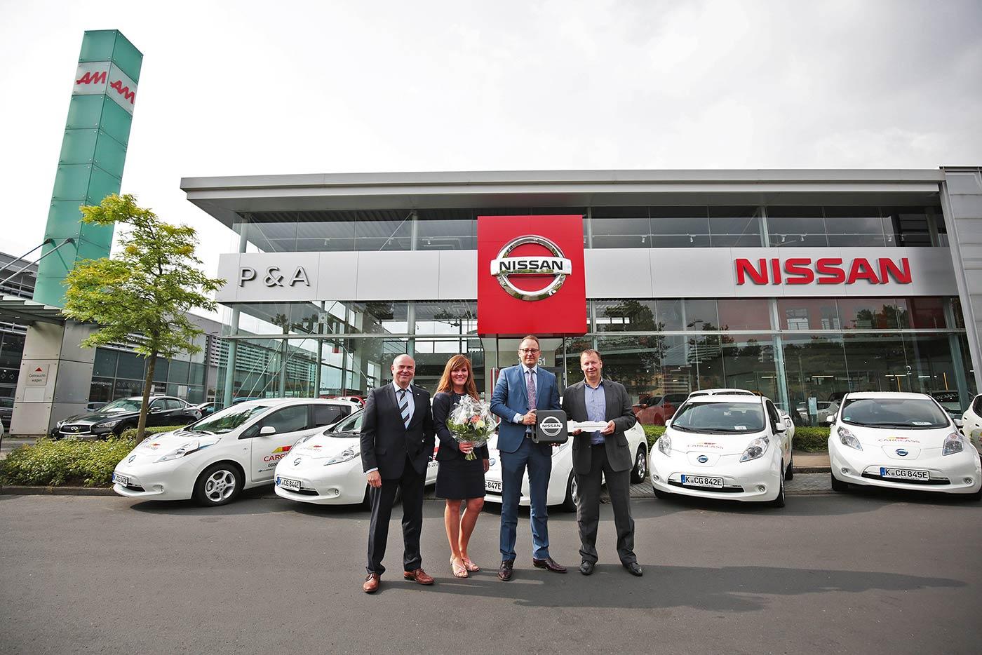 Carglass® fährt Nissan Leafs vom Autozentrum P&A