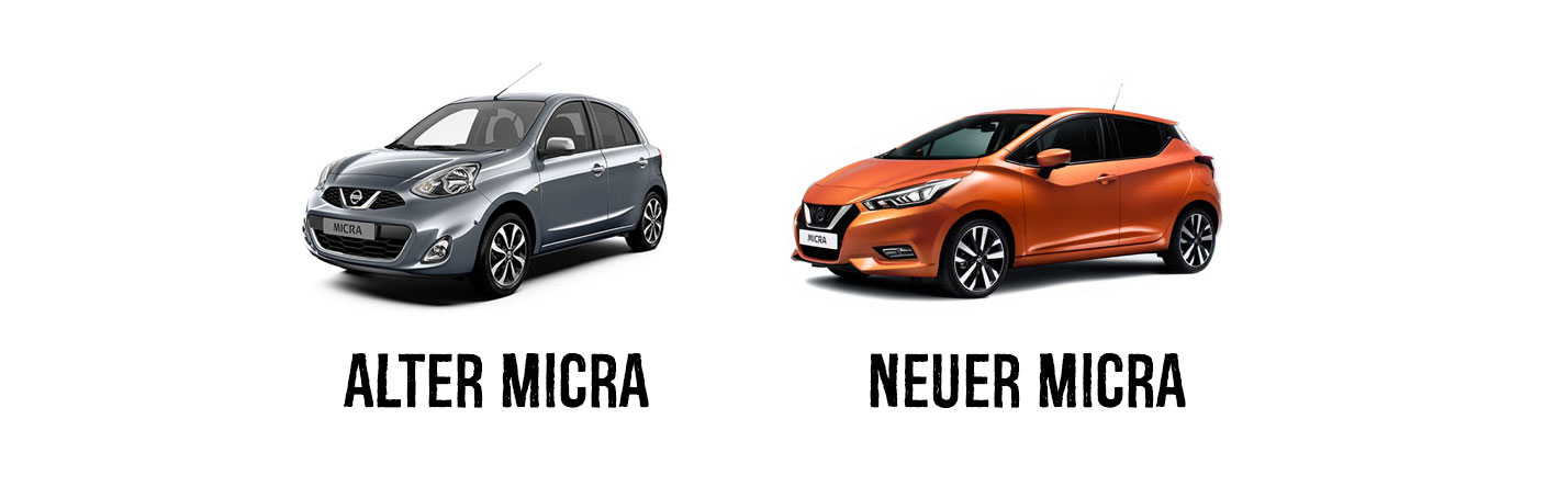 Nissan Micra alt und neu