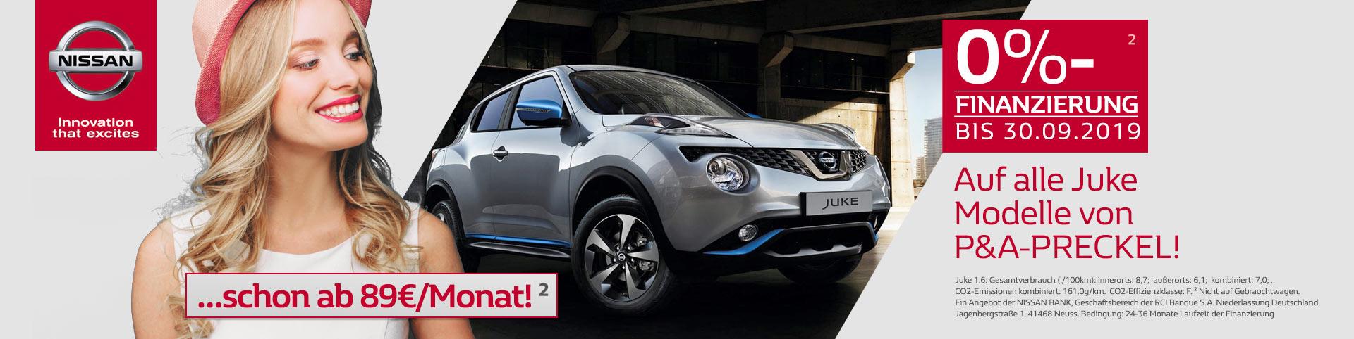 Nissan Juke 0% Finanzierung vom Autozentrum P&A-Preckel