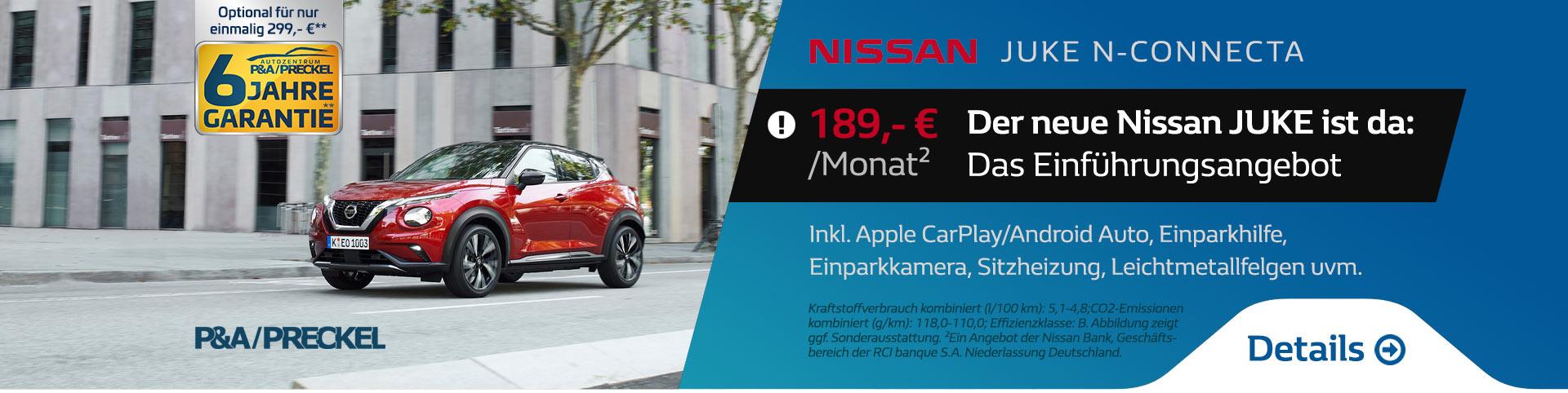 Der neue Nissan Juke vom Autozentrum P&A
