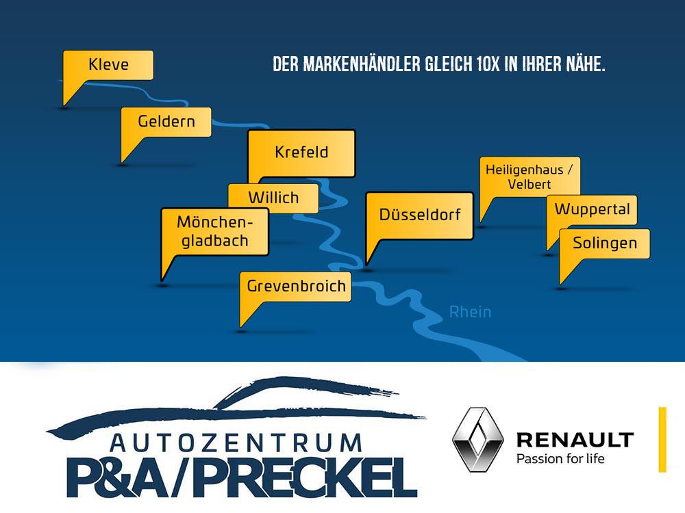 Renault Standorte vom Autozentrum P&A-Preckel