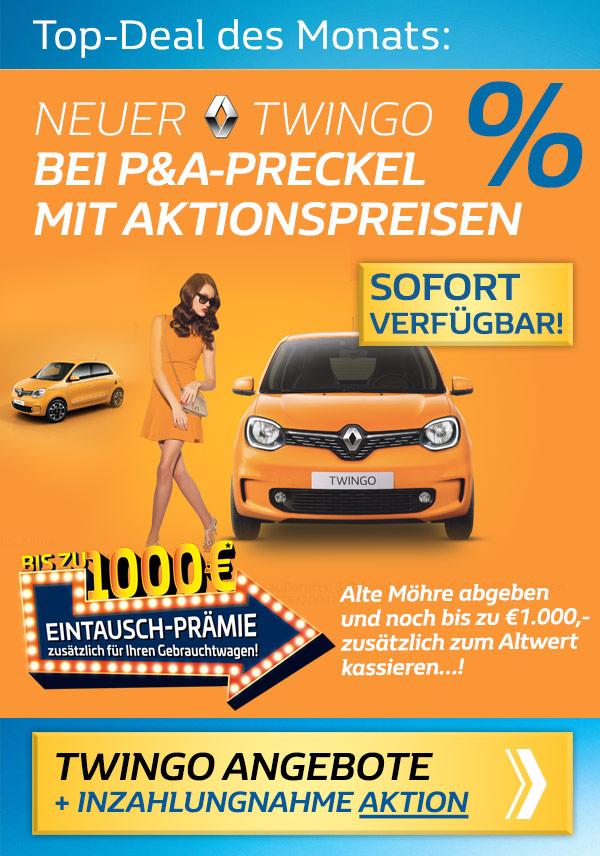 Renault Twingo Angebote vom Autozentrum P&A-PRECKEL