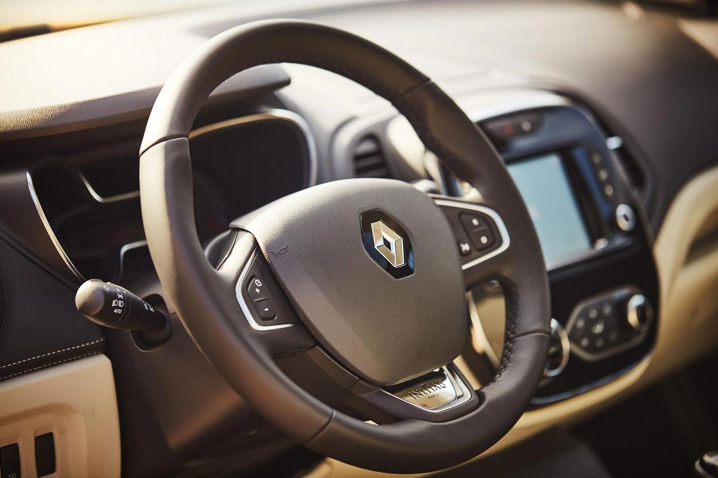 Stilvolles Lenkrad im Renault Captur
