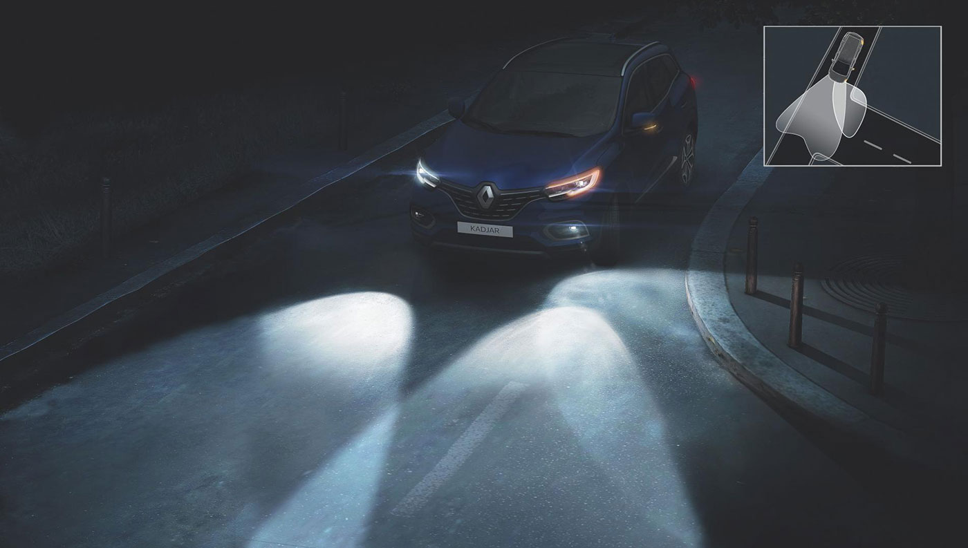 Renault Kadjar 2019 adaptives Kurvenlicht