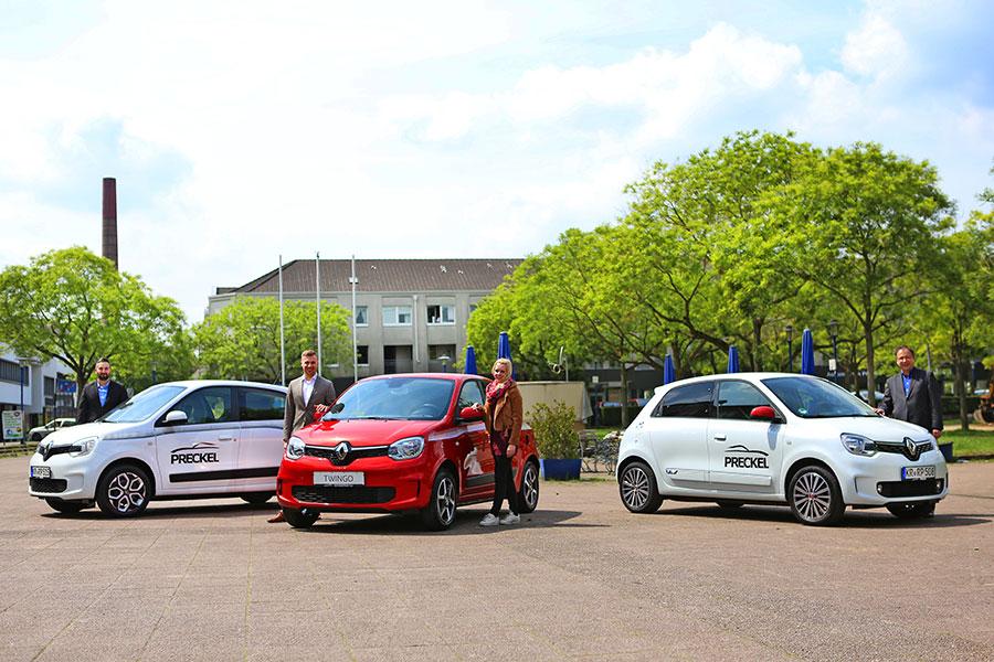Der neue Renault Twingo in verschiedenen Varianten und Farben