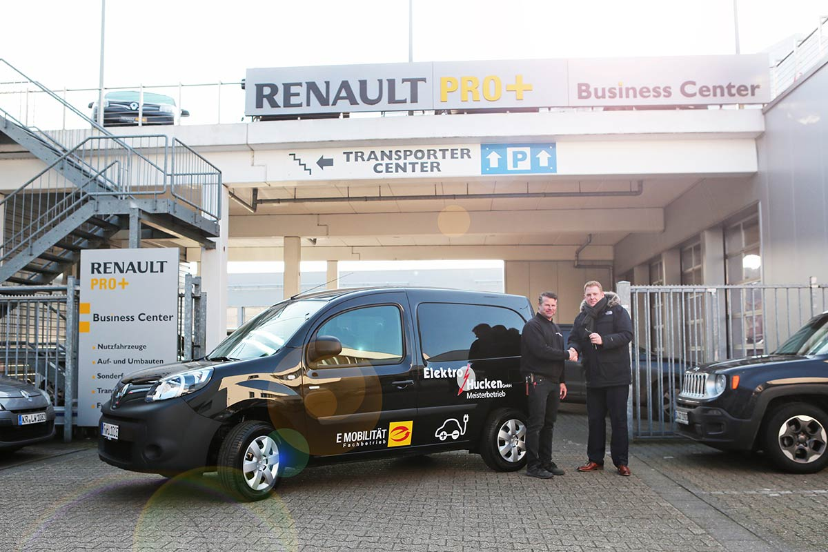 Übergabe unseres Renault Kangoo Z.E.