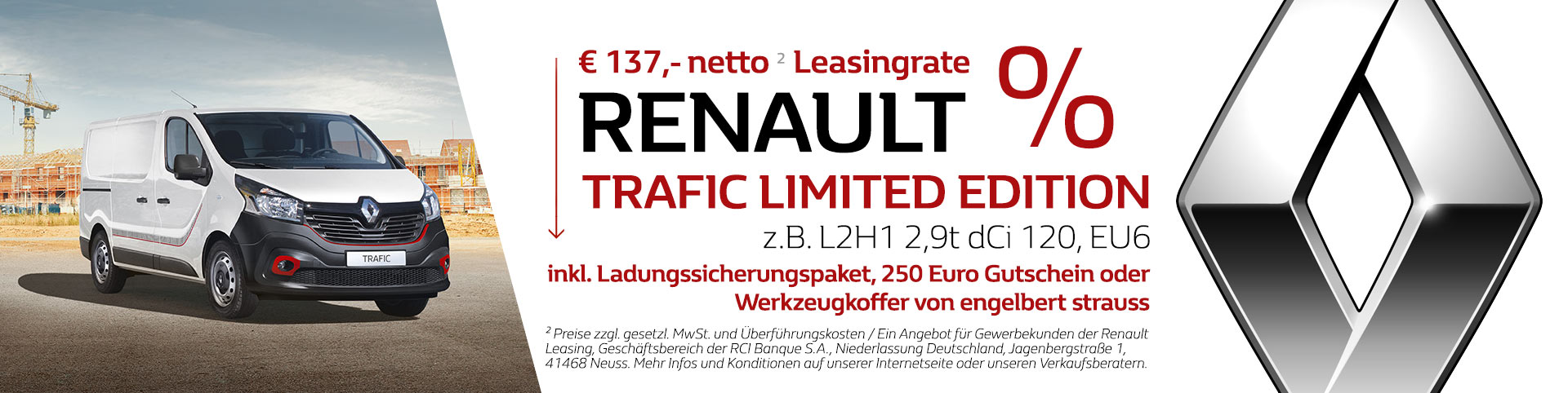 Renault Trafic Limited Edition Angebot
