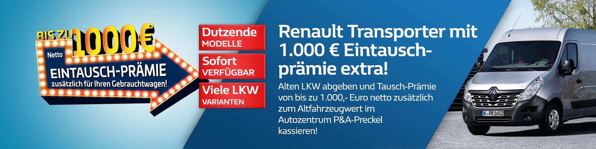 Renault Transporter mit Eintauschprämie