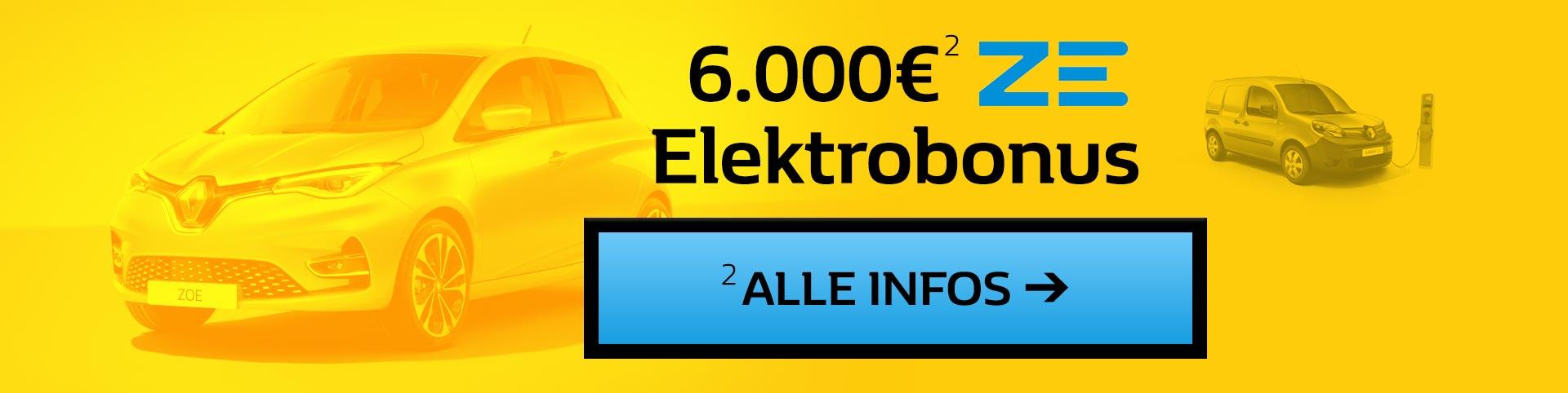 6000 Euro ZE Elektrobonus