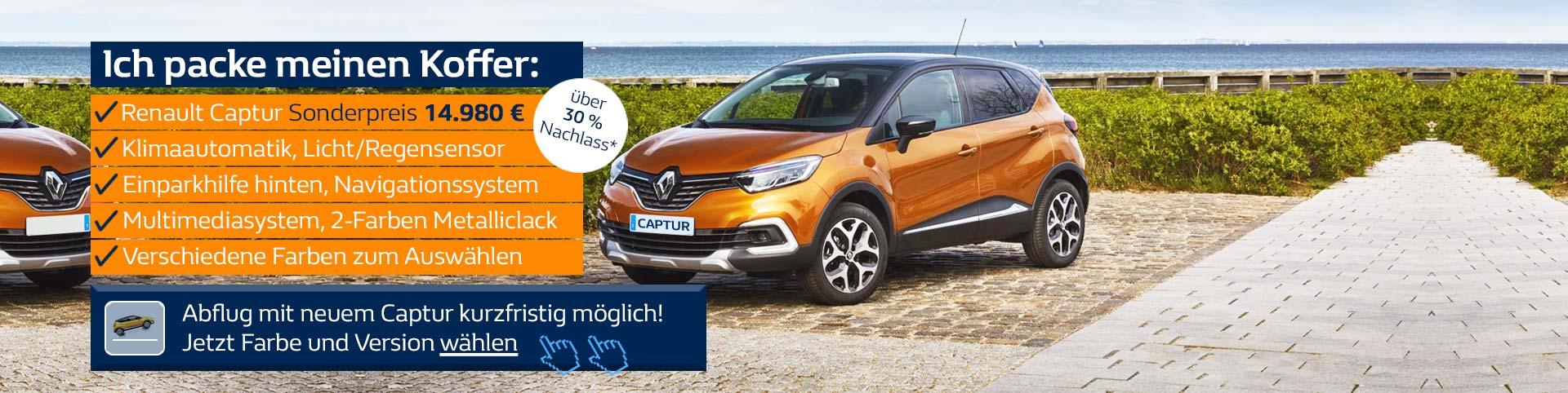 Renault Captur Angebot mit Gewinnspiel