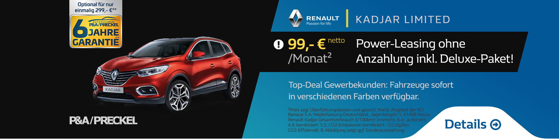 Renault Kadjar Power Leasing 99 Euro