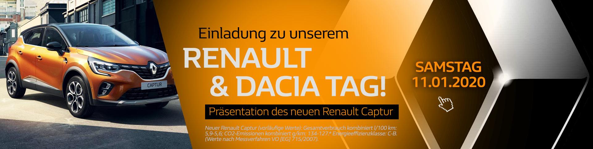 Renault Tag mit dem neuen Renault Captur 2020