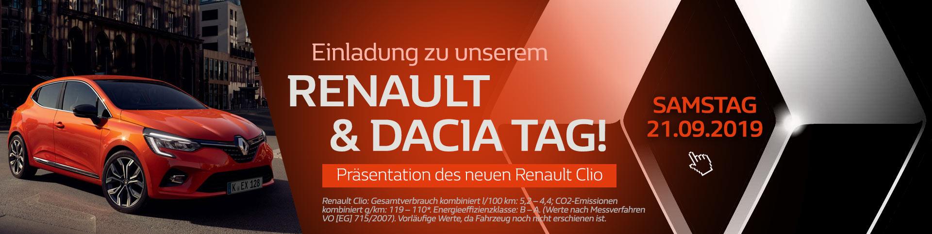 Renault Tag mit dem neuen Renault Clio