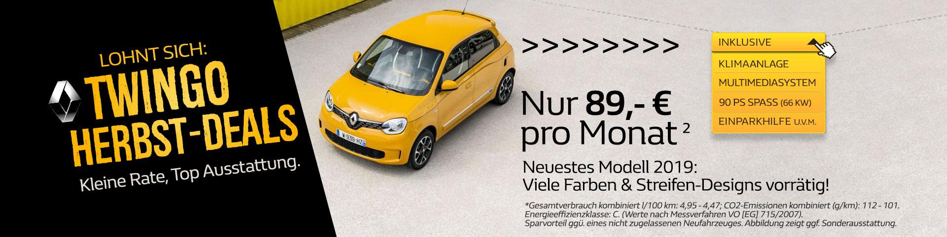 Solidaritätsnachlass statt Zuschlag: Renault Twingo Sonderangebot von P&A-PRECKEL