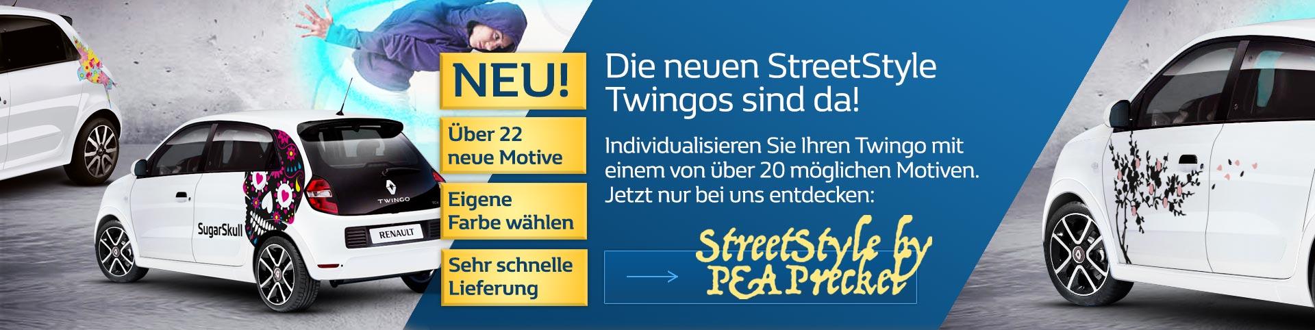 Die neuen Renault Twingo Streetstyles von P&A-Preckel