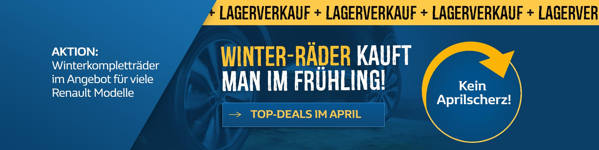 Lagerverkauf Renault Winterkompletträder
