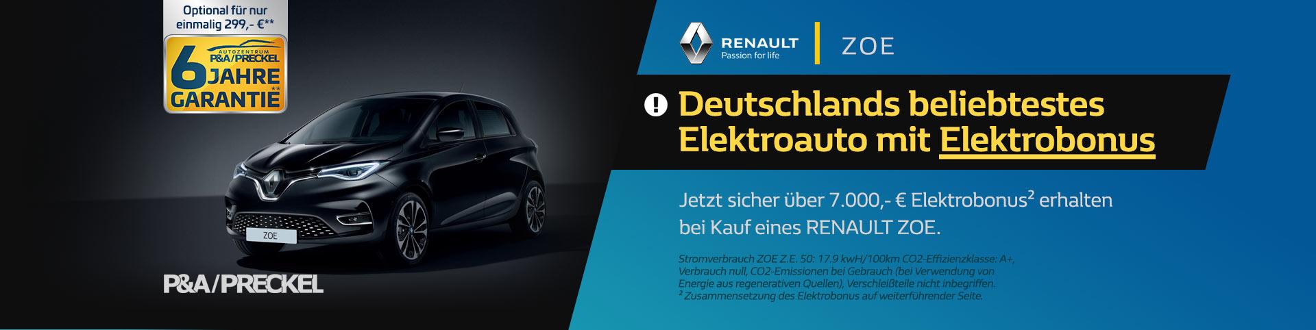 ZOE Elektrobonus 7000 Euro