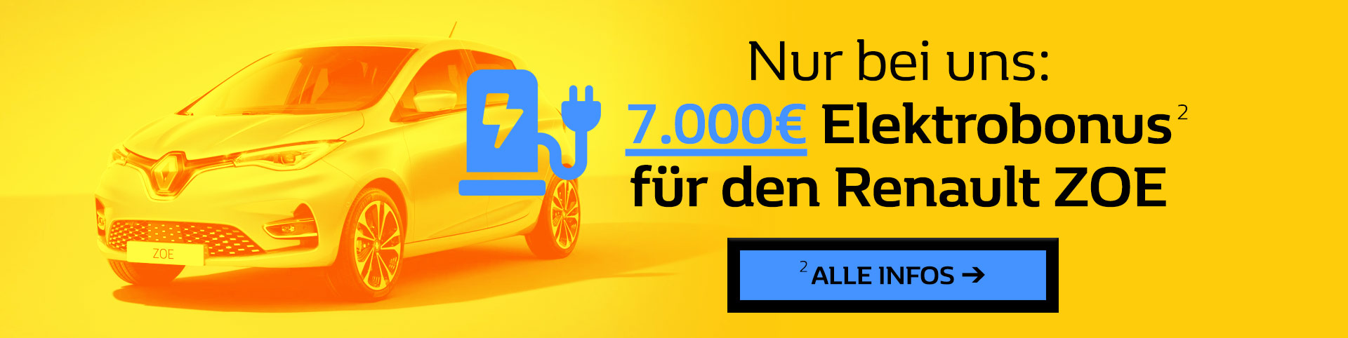 Renault ZOE Elektrobonus 7000 Euro