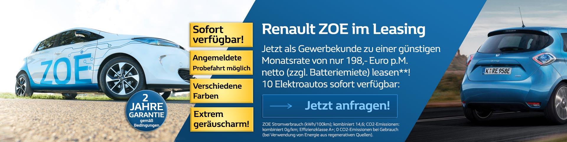 Renault Zoe Leasing 198 Euro