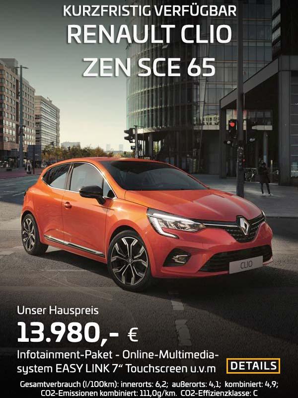 Renault Clio ZEN SCE 65 von Preckel Automobile