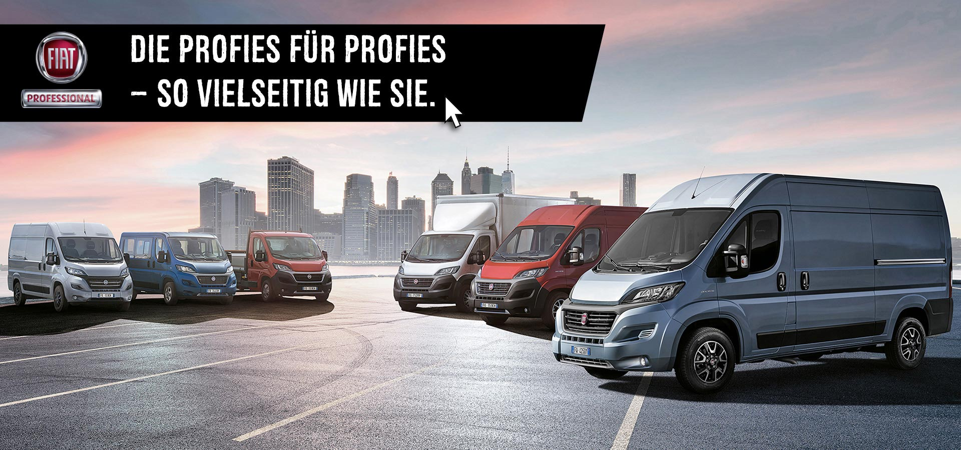 Fiat Professional – Die Profies für Profies so vielseitig wie Sie.