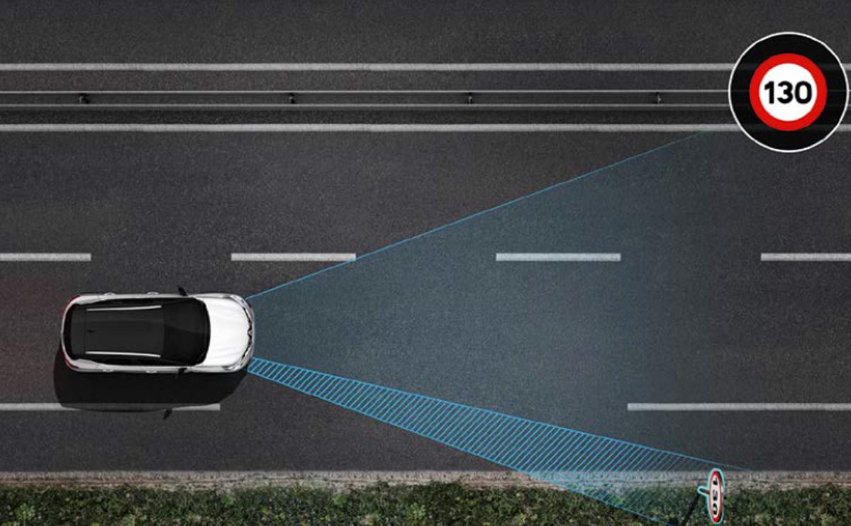 Geschwindigkeitswarner mit Verkehrszeichenerkennung