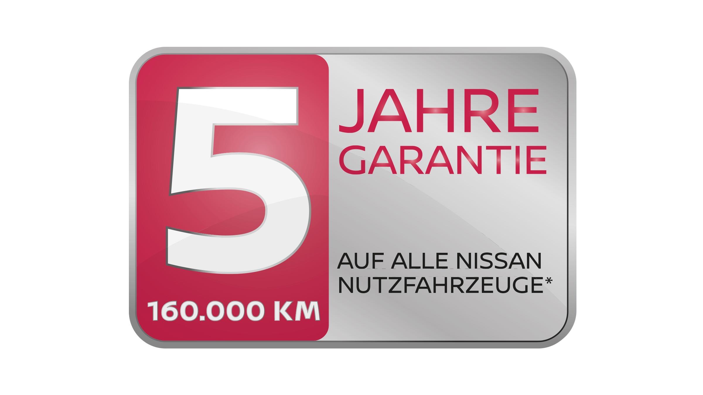Nissan fünf Jahre Garantie