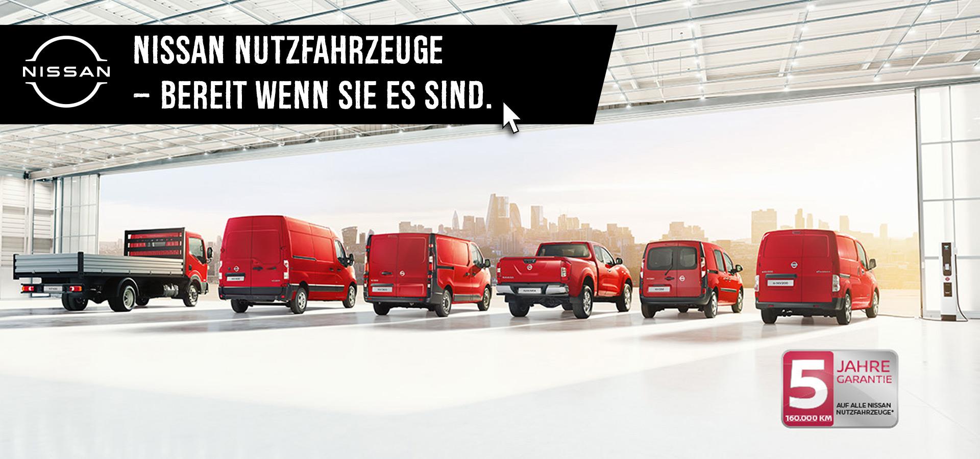 Nissan Nutzfahrzeuge – Bereit wenn Sie es sind.
