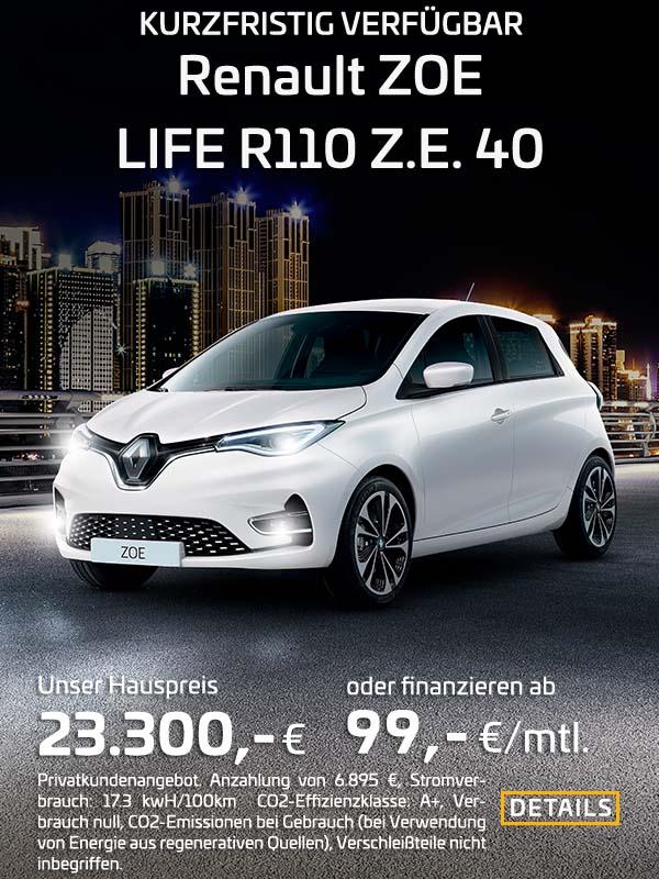 Renault ZOE Eletromobilität ab 99,- € - Preckel Automobile