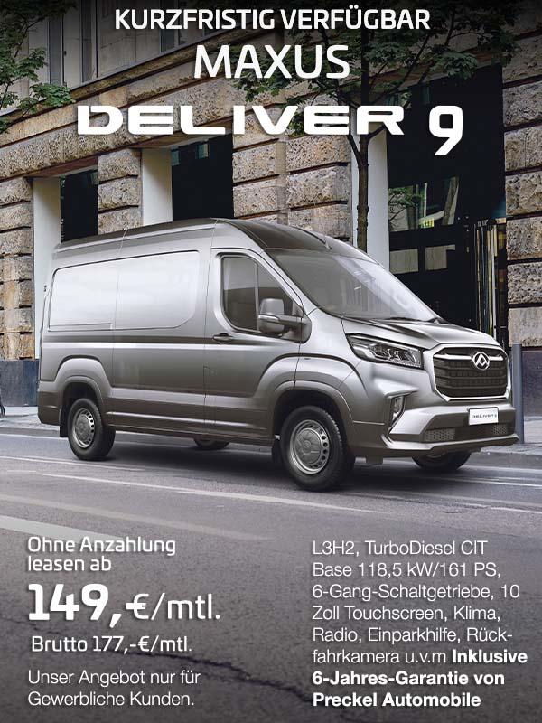 Maxus Deliver 9 L3H2 von Preckel Automobile