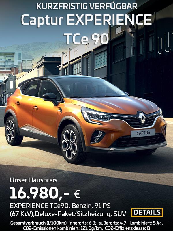 Renault Captur EXPERIENCE TCe90, Benzin