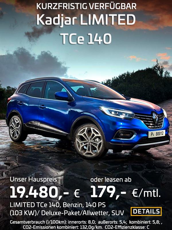 Renault Kadjar LIMITED TCe 140 Handschaltung
