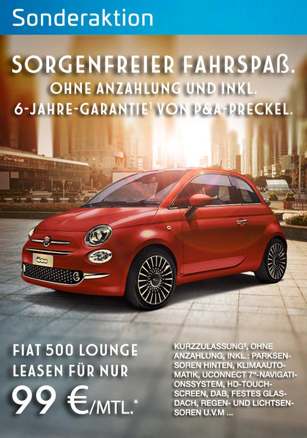 Fiat 500 günstig leasen bei P&A / Preckel