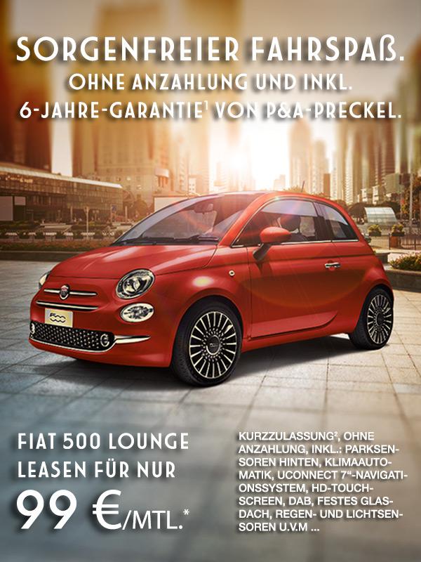 Fiat 500 Benziner bei Autozentrum P&A Preckel