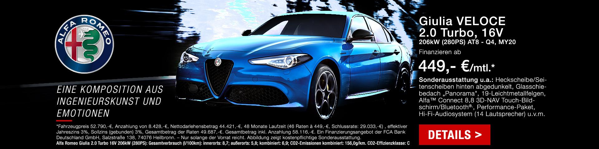 Alfa Romeo Giulia günstig bei Preckel Automobile