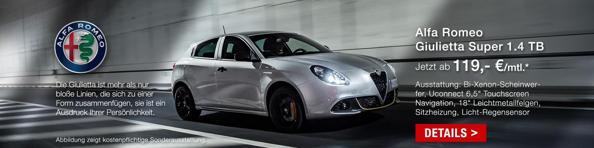 Alfa Romeo Giulietta für 119,-€ mtl. finanzieren