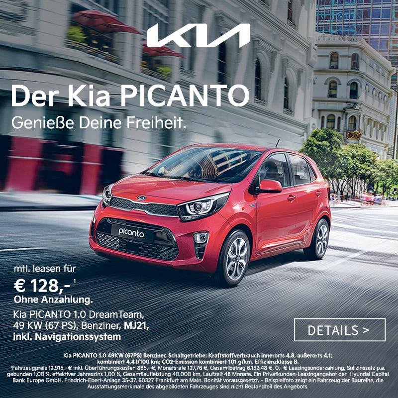 Kia Picanto jetzt günstig leasen bei Autozentrum P&A / Preckel