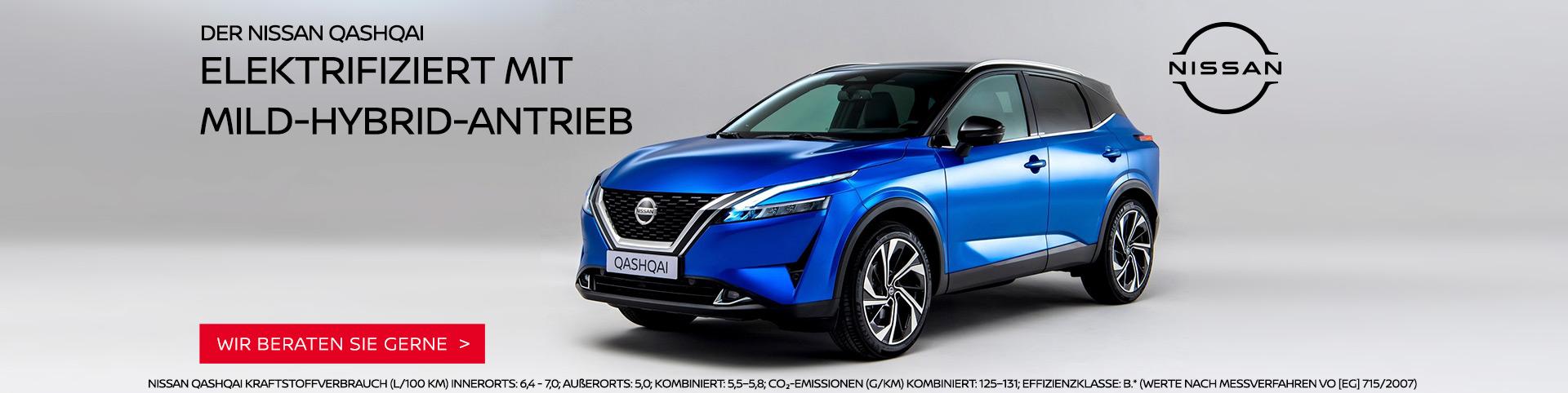 Nissan Quashqai mit Mild-Hybrid-Antrieb bei Autozentrum P&A Preckel