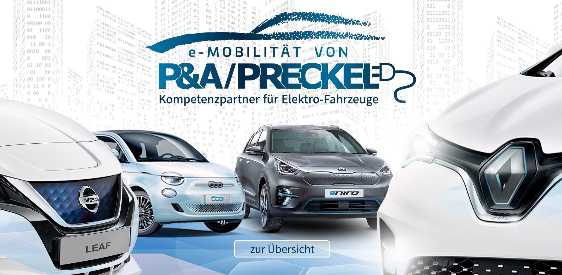 Autozentrum P&A / Preckel ist Ihr kompetenter Partner für Elektro-Fahrzeuge