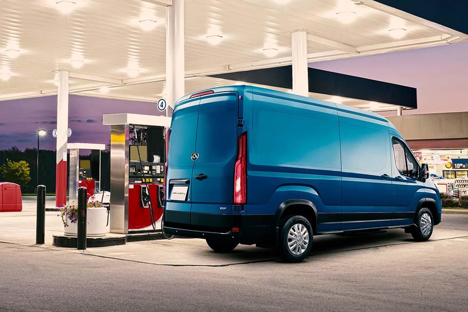 Maxus Deliver 9 - geringer Verbrauch dank variablen Turbolader und AdBlue-Technologie