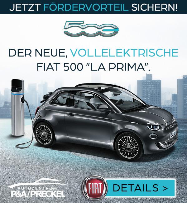 Fiat 500 La Prima Elektroauto
