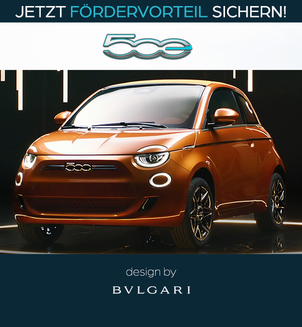 Fiat 500 Elektro Sonderedition BULGARI