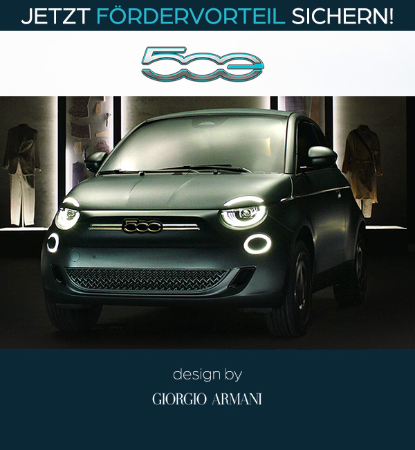 Fiat 500 Elektro Sonderedition Armani-Design