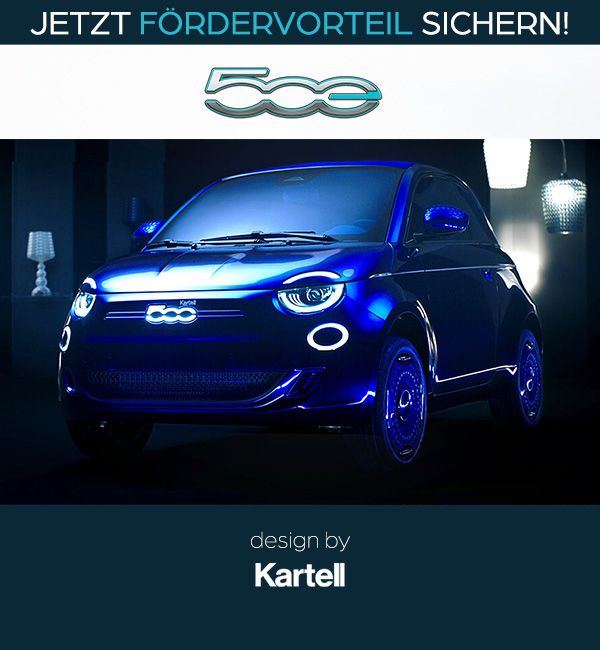 Fiat 500 Elektro Sonderedition KARTELL