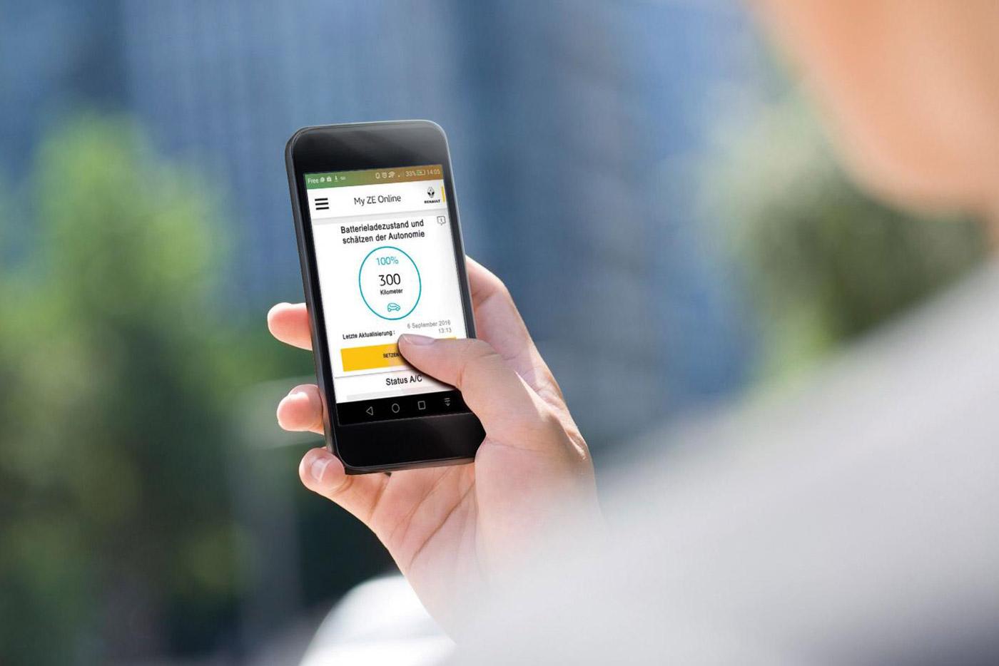 Renault Zoe bequem per Smartphone steuern