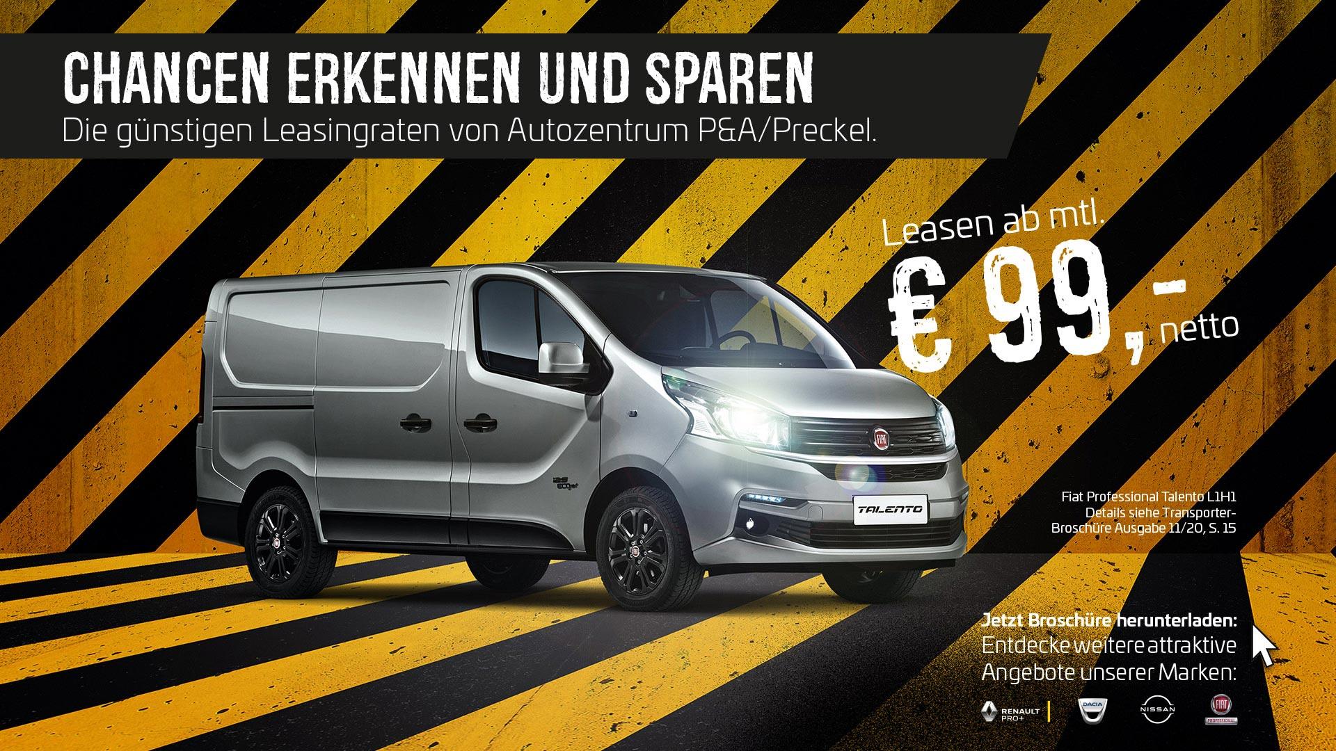 Attraktive Transporter Leasing Angebote von Autozentren P&A